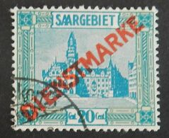 SARRE SERVICE YT 6 OBLITERE  ANNÉES 1922/1924 - Servizio