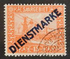 SARRE SERVICE YT 5 OBLITERE ANNÉES 1922/1924 - Servizio