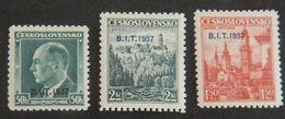 TCHÉCOSLOVAQUIE YT 332A/332B/332C NEUFS*  ANNÉE 1937 - Unused Stamps