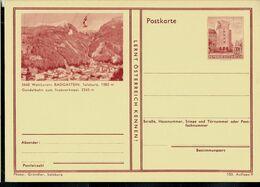 Carte Illustrée Neuve N° 410. 103/9. - 5640 Weltkurort BADGASTEIN, Salzburg, 1083 M ( Téléphérique) - Entiers Postaux