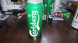 Israel-beer Cans-carlsberg-copenhagen Premium Beer 1847-(2)-(5%)-(500ml)--good - Dosen