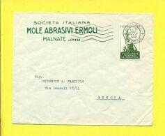 STORIA POSTALE ITALIA - ISOLATI SU  BUSTA - - 1946-60: Marcophilie