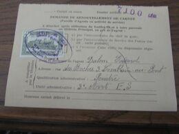 Timbre Chemin De Fer N° 308 Sur Une Carte De Service Avec Cachet Oblong: ELECTRICITE-SIGNALISATION DE LIEGE En 1953! - 1952-....