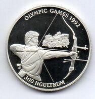 BHUTAN, 300 Ngultrums, Silver, Year 1992, KM #76, PROOF - Bhutan