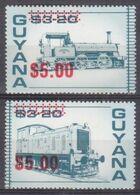 1989Guyana2521-2522Overprint - # 1921-1922 - Treni