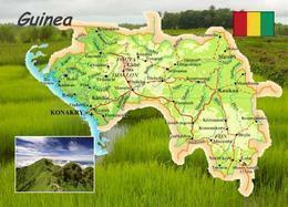 Guinea Country Map New Postcard Landkarte AK - Guinee