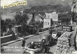 Liguria-imperia-grimaldi Frontiera Di Ponte S.luigi Veduta Dogana Auto Epoca Anni 40 50 Persone Animatissima - Other Cities