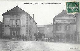 71 - Saône Et Loire - CHENAY Le CHATEL - Arrivée Du Courrier - Otros Municipios