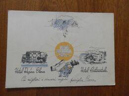 Italia  Cartolina Con DISEGNI PUBBLICITARI ALBERGHI SANTA MARGHERITA LIGURE - Hotels & Restaurants