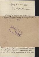 Centre Séjour Surveillé Nexon Guerre 39 45 Censure YT 516 Petain CAD Nexon Haute Vienne 30 5 42 - Postmark Collection (Covers)