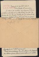 Centre Séjour Surveillé Nexon Guerre 39 45 Interné Politique Censure Sans Cadre Rouge Contrôle C.S.S Nexon YT 517 Petain - Postmark Collection (Covers)