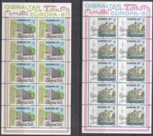 GIBRALTAR 519-520, 2 Kleinbogen, Postfrisch**, Europa: Moderne Architektur, 1987 - Gibilterra