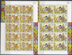 GIBRALTAR 563-564, 2 Kleinbogen, Postfrisch**, Europa: Kinderspiele, 1989 - Gibilterra