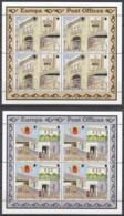 GIBRALTAR 590-593, 2 Kleinbogen, Postfrisch**, Europa: Postalische Einrichtungen, 1990 - Gibraltar