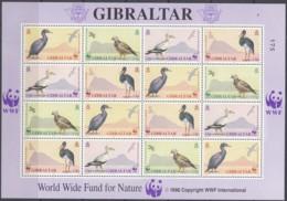 GIBRALTAR 619-622 Kleinbogen, Postfrisch**, Weltweiter Naturschutz: Vögel, 1991 - Gibraltar