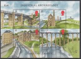 GROSSBRITANNIEN  Block 5, Gestempelt, Baudenkmäler Der Industriellen Revolution, 1989 - Blocks & Miniature Sheets