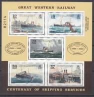 GUERNSEY  Block 5, Postfrisch **, 100. Jahrestag Der Einrichtung Der Schifffahrtslinie Weymouth - Kanalinseln, 1989 - Guernsey