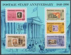 GUERNSEY Block 6, Postfrisch **, 150 Jahre Briefmarken, 1990 - Guernsey