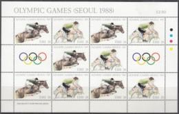 IRLAND 645-646, Kleinbogen, Postfrisch **, Olympische Sommerspiele, Seoul 1988 - Blocks & Kleinbögen