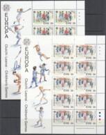 IRLAND 679-680, 2 Kleinbogen, Postfrisch **, Europa: Kinderspiele 1989 - Blocchi & Foglietti