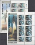 IRLAND 759-760, 2 Kleinbogen, Postfrisch **, Europa: Europäische Weltraumfahrt 1991 - Blocks & Kleinbögen