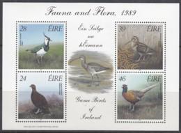 IRLAND Block 7, Postfrisch **, Jagdbare Vögel, 1989 - Blocks & Kleinbögen