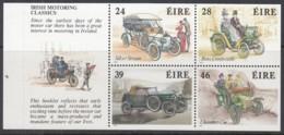 IRLAND Heftchenblatt 14, Postfrisch **, Irisches Verkehrswesen (II): Historische Automobile, 1989 - Markenheftchen