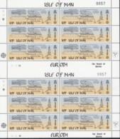 ISLE OF MAN 240-241, 2 Doppel-Kleinbogen, Postfrisch **, Europa: Große Werke Des Menschlichen Geistes, 1983 - Man (Insel)