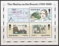 """ISLE OF MAN  Block 11, Postfrisch **, 200. Jahrestag Der Meuterei Auf Der """"Bounty"""", 1989 - Man (Insel)"""