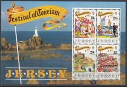 JERSEY Block 5, Postfrisch **, Tourismus: Veranstaltungen Und Urlaubsgestaltung, 1990 - Jersey