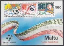 MALTA  Block 11, Postfrisch **, Fußball-Weltmeisterschaft, Italien, 1990 - Malta