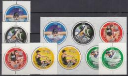 NEUSEELAND  1526-1520 + Kleinbogen 1526-1530, Postfrisch **, Olympische Sommerspiele, Atlanta, 1996 - Blocks & Kleinbögen