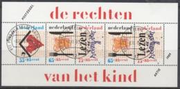 """NIEDERLANDE  Block 33, Gestempelt, """"Voor Het Kind"""": Das Kind Und Seine Rechte, 1989 - Bloks"""