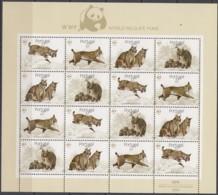 PORTUGAL  1741-1744, Kleinbogen, Postfrisch**, Weltweiter Naturschutz: Pardelluchs, 1988 - Blocks & Kleinbögen
