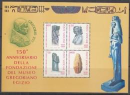 VATIKAN Block 11, Postfrisch **, 150 Jahre Ägyptisches Museum Im Vatikan, 1989 - Blocks & Kleinbögen