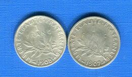 Franc  1907 /1908 - H. 1 Franco
