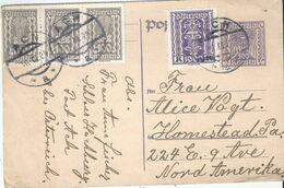 PK  Schloss Hochburg Ach - Homestead USA           1924 - Stamped Stationery