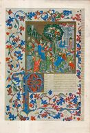 Entrée Du Christ à Jérusalem. Bréviaire De Martin D'Aragon ( Vers 1400 ) . Image Facilement Détachable Du Support Papier - Andachtsbilder