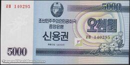 TWN - NORTH KOREA 57A - 5000 5.000 Won 2003 Savings Bond - Prefix ㅍㅂ UNC - Corea Del Nord