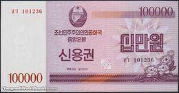 TWN - NORTH KOREA 57D - 100000 100.000 Won 2003 Savings Bond - Prefix ㅍㄱ UNC - Corea Del Nord