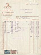 Renaix - Eug. Maerheyd / Manufacture De Casquettes Et Bérêts - Ambachten