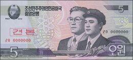 TWN - NORTH KOREA 58-SP - 5 Won 2002 (2009) Specimen 0000000 - Prefix ㄹㅇ UNC - Corea Del Nord