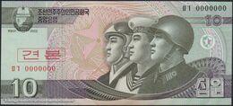 TWN - NORTH KOREA 59-SP - 10 Won 2002 (2009) Specimen 0000000 - Prefix ㅁㄱ UNC - Corea Del Nord