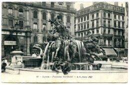 69001 LYON - Fontaine Bartholdi - Carte Postée En 1915 - Lyon 1