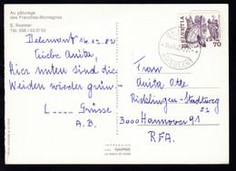 BAHNPOST AMBULANT 14.XII.82 4771 Auf CAK (Au Paturage Des Franches-Montagnes) - Unclassified