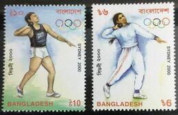 117.  BANGLADESH  2000 SET/2 STAMP SYDNEY OLYMPICS . MNH - Bangladesch