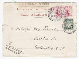 Neuseeland 1905 Brief Mit MIF+Postverschluss Nach Dresden - Briefe U. Dokumente