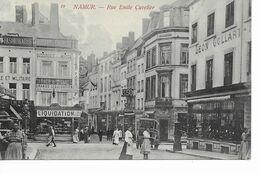 NAMUR-  Rue émile Cuvelier Avec Magasin De Tabac En Liquidation Chez Collart à Droite. - Namen
