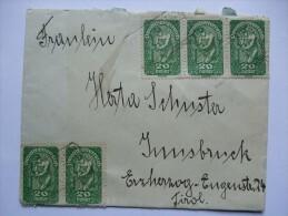 AUSTRIA 1920`S COVER TO INNSBRUCK - Briefe U. Dokumente