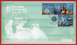 "Indonesia 2020, FDC COVID-19 ""BERSATU MELAWAN COVID-19"" MNH. - Indonesia"